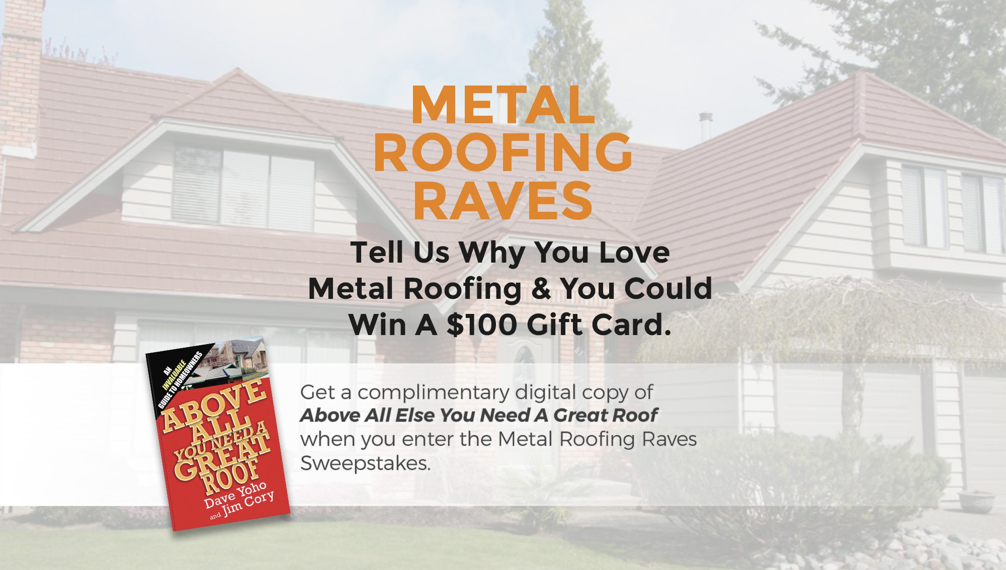 "Share Why You Love Metal Roofing For Chance To Win MRA's ""Metal Roofing Raves"" Giveaway"
