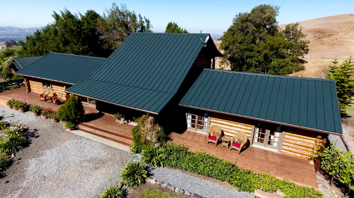 Photo caption: Wedge Roofing was selected the 2018 winner of MRA's Best Metal Roofing Project for a residential re-roofing project in California to help protect against wildfire