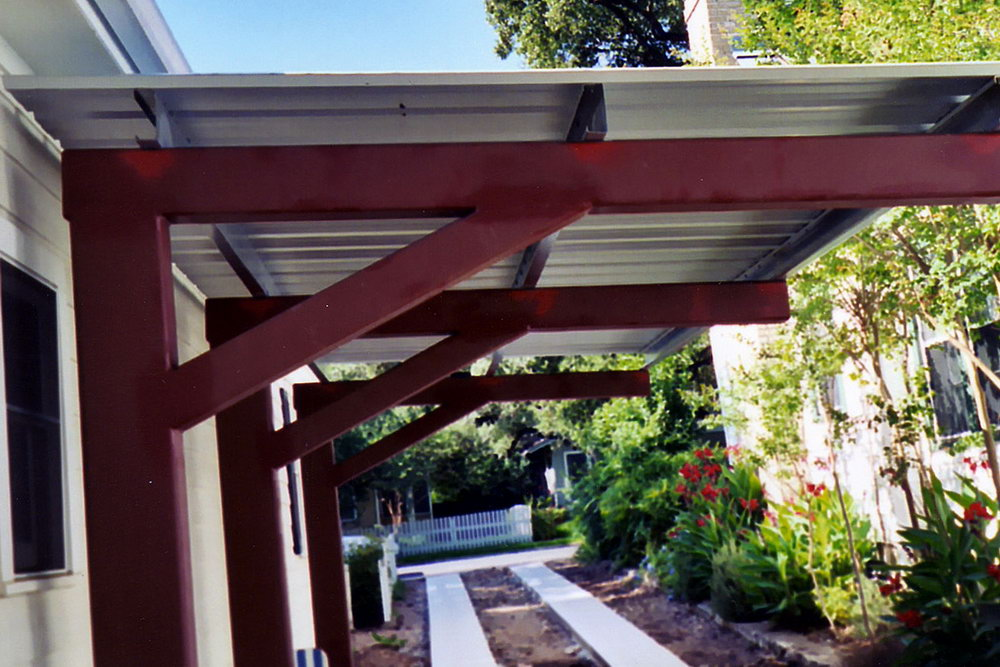 Wood Patio Cover With Metal Roof