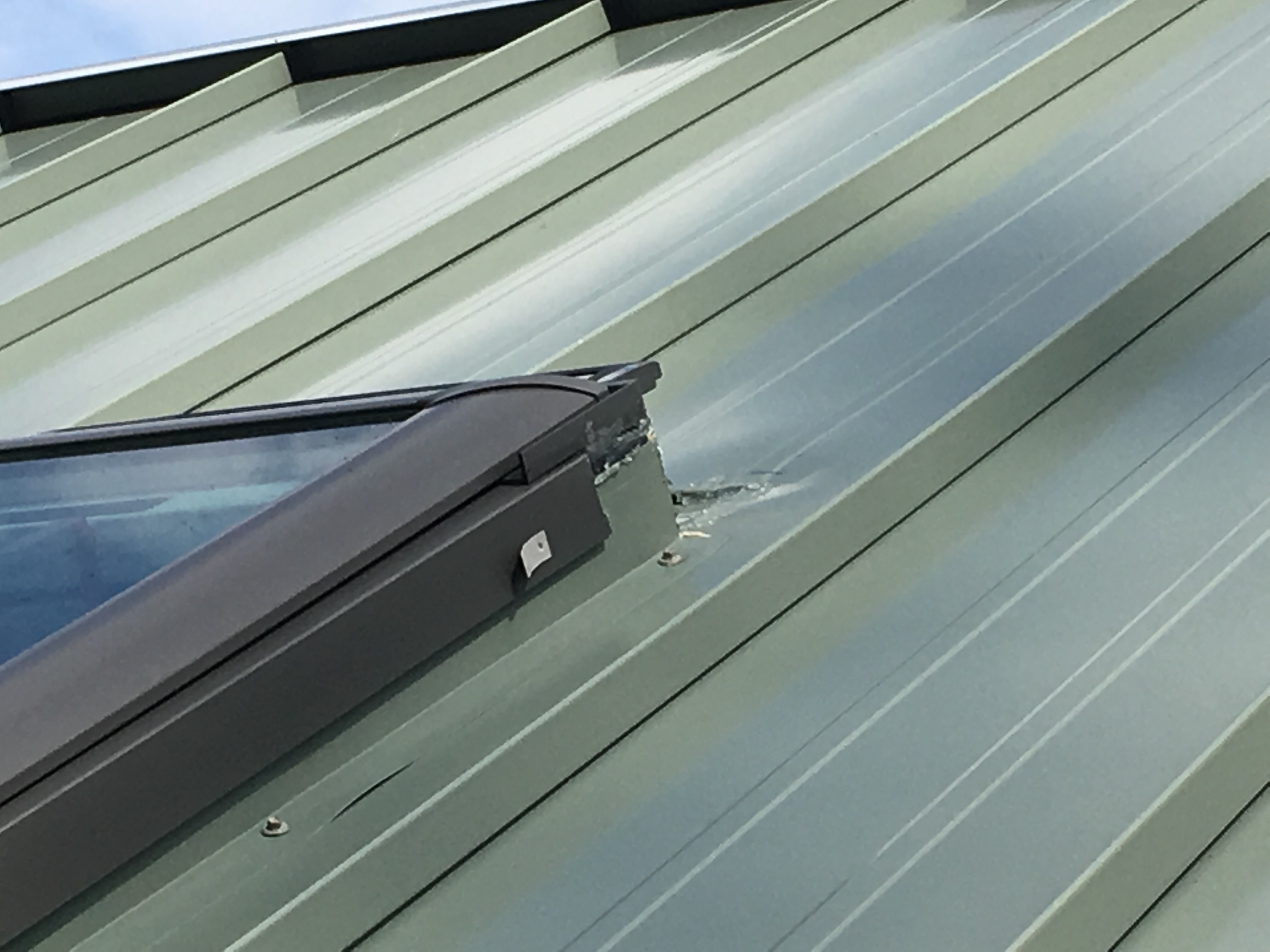 Installation Around Skylight Workmanship Questions I Have Just Had A Standing Seam Metal Roof Installed Christy Schuetze 9 11 2019 Installation Metal Roofing Alliance Forum